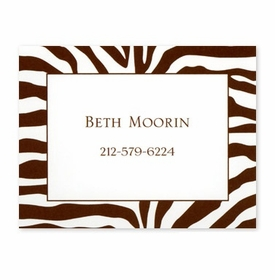 boatman geller zebra brown calling card