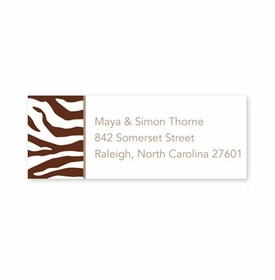boatman geller zebra chocolate address labels