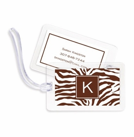 boatman geller zebra chocolate bag tags