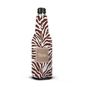 boatman geller zebra chocolate bottle koozie