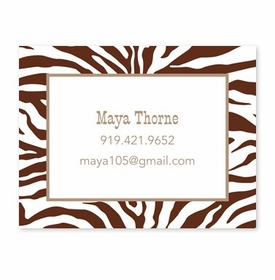 boatman geller zebra chocolate calling card