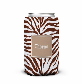 boatman geller zebra chocolate can koozie