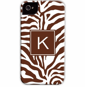 boatman geller zebra chocolate cell phone case