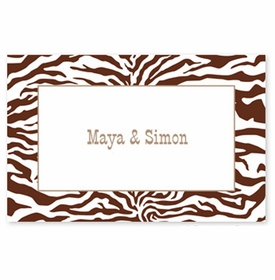boatman geller zebra chocolate disposable placemats