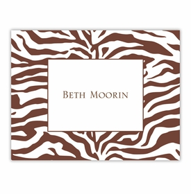 boatman geller zebra chocolate foldover notes