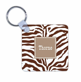 boatman geller zebra chocolate key chain
