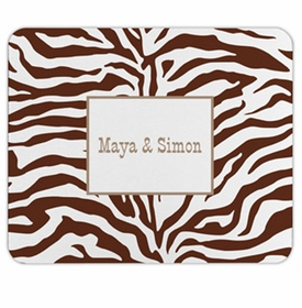 boatman geller zebra chocolate mouse pad