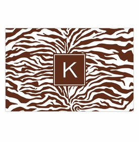 boatman geller zebra chocolate placemat