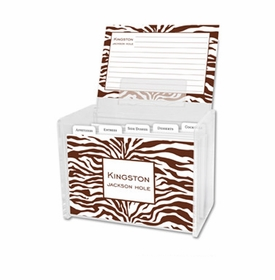 boatman geller zebra chocolate recipe box