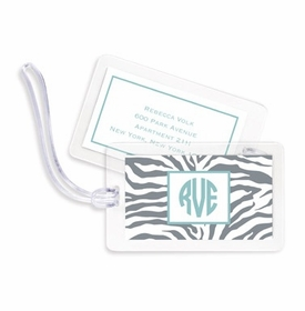 boatman geller zebra gray bag tags