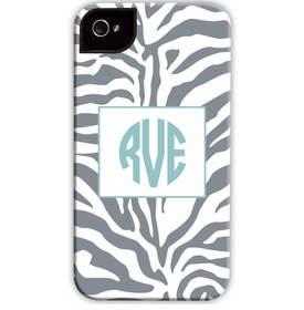 boatman geller zebra gray cell phone case