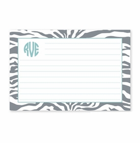 boatman geller zebra gray recipe card