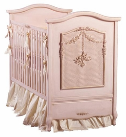 bonne nuit cherubini crib by art for kids (versailles pink)