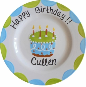 boy birthday plate