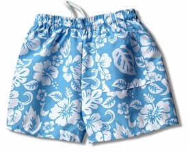 boy's swim trunk by mn bird - blue surf
