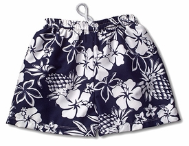 boy's swim trunk by mn bird - island navy
