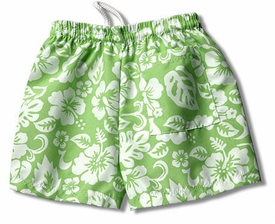boy's swim trunk by mn bird - lime surf