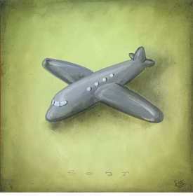 boy's toys - airplane wall art