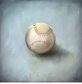 boy's toys - baseball wall art