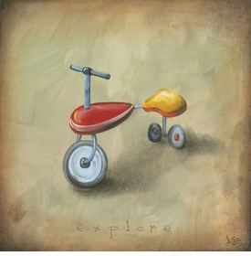 boy's toys - trike wall art