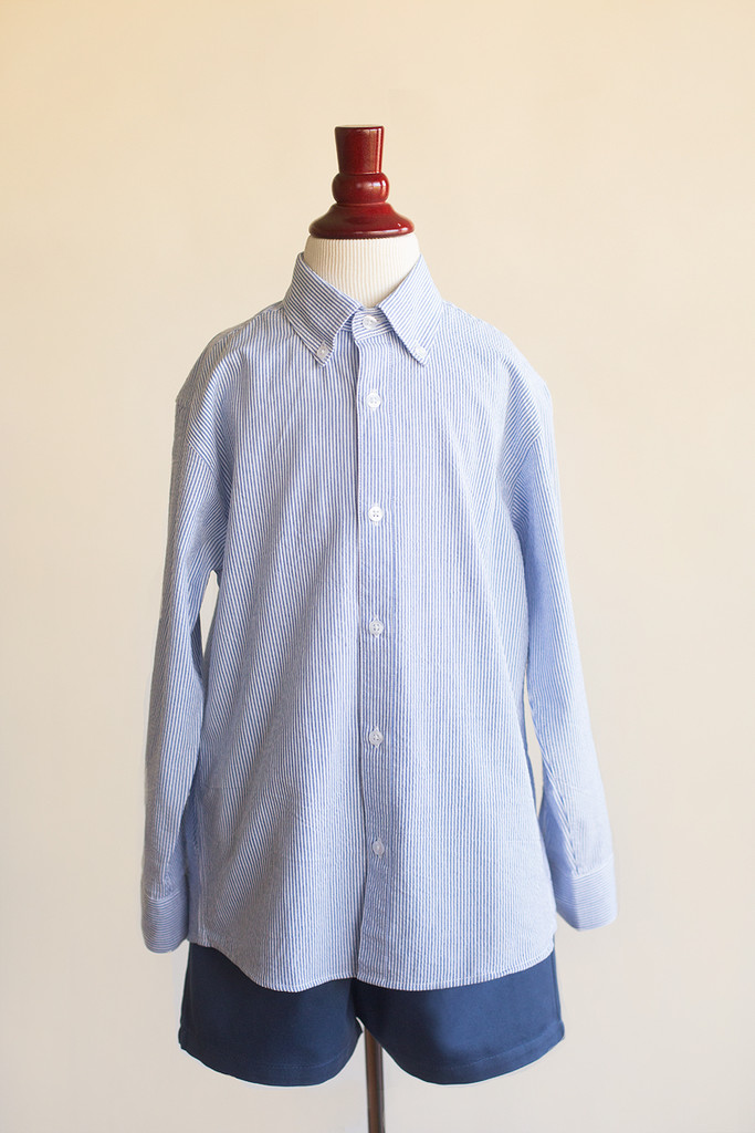 bb7f83a45f8 boys button down check shirt - blue sky