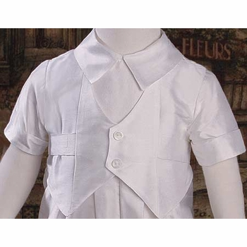 boys christening coverall with vest
