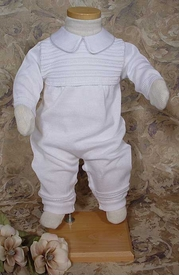 boys knit christening coverall