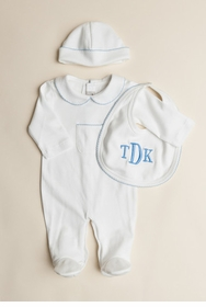 boys pointelle layette set