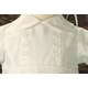 boys silk christening romper with buttons