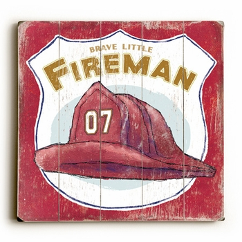 brave little fireman vintage sign