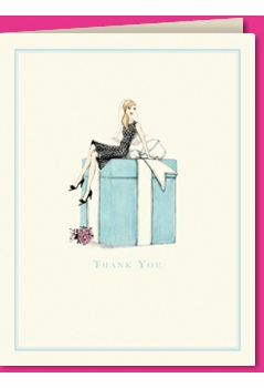 bride on box - blonde thank you (set of 10)