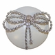 brilliant bow crystal drawer knob