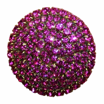 brilliant fuchsia crystal drawer knob