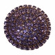 brilliant lavender crystal drawer knob