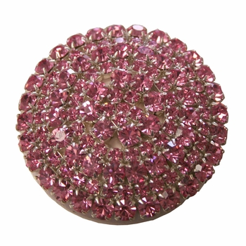 brilliant pink crystal drawer knob