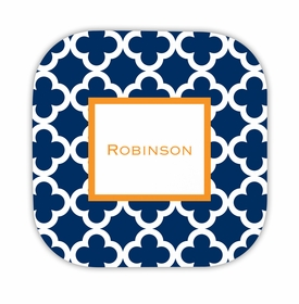 bristol tile navy hardback rounded coaster<br>(set of 4)