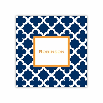 bristol tile navy square paper coaster<br>set of 50