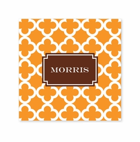 bristol tile tangerine coaster square paper coaster<br>set of 50