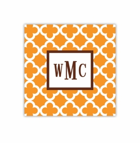 bristol tile tangerine square paper coaster<br>set of 50