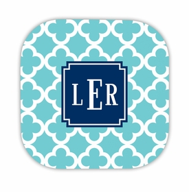 bristol tile teal hardback rounded coaster<br>(set of 4)