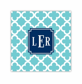 bristol tile teal square paper coaster<br>set of 50