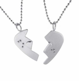 broken braille guitar pick necklace set