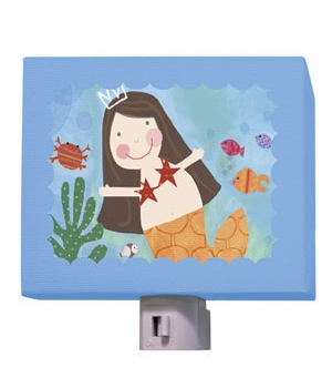 brunette mermaid nightlight