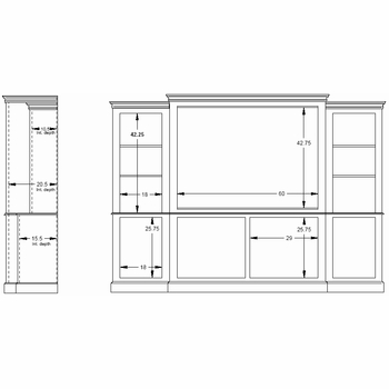 brunswick wall unit center