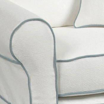 buckingham adult slipcovered glider<br> (designed with your choice of fabric)