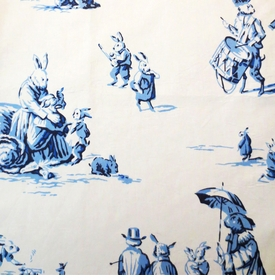 bunny business fabric