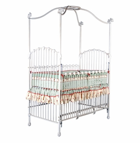 bunny finials iron canopy crib