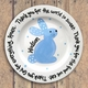 bunny personalized baby plate