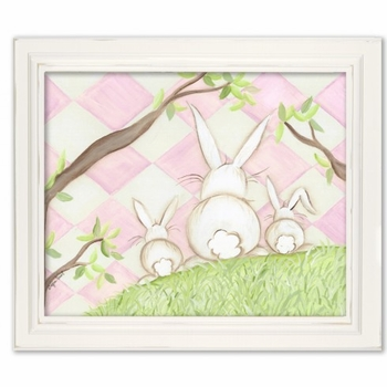 bunny pink diamond wall art