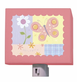 butterfly plaid nightlight